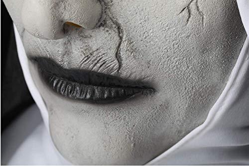 SDT Máscara Halloween con Velo Valak The Nun Cosplay Monja Mask Diablo para Hombres Mujeres en Halloween Navidad Carnaval Fiestas Casco de Cabeza Completa ...