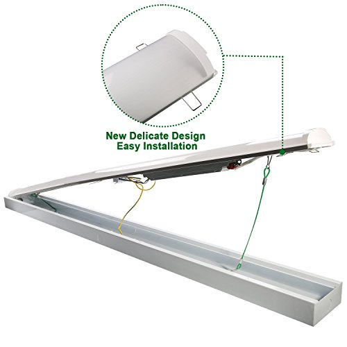 Industrial Led Garage Lights: Hykolity 4FT LED Wraparound Flush Mount Ceiling Light 40W