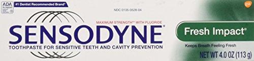 Sensodyne Sensodyne Fresh Impact Fluoride Toothpaste, Mint 4 oz (Pack of 3)