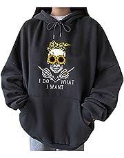 JPVDPA Fall Fashion for Women 2021 Long-Sleeve Print Pullover Teen Girl Clothes Trendy Oversized Sweatshirt for Women