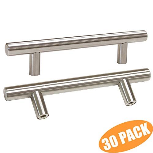 T Bar Cabinet Pulls Stainless Steel Kitchen Handles 6 Inch total Length 30 Packs