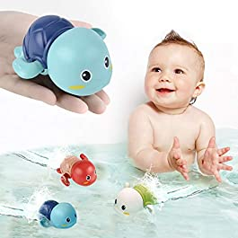SEPHIX Go, Go! Cute Swimming Turtle Bath Toys for Toddlers & Kids (3 Pcs)