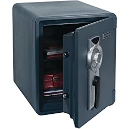 First Alert 2087F .94 Cubic Foot Gray Fire & Water Safe With Combination Lock