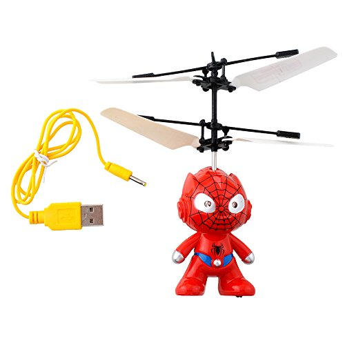 Spiderman Flying R/C Hero Led Red Light Infrared Induction Hand controlled for kids