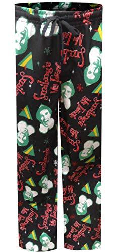 Bioworld Men's Elf All Over Print Pajama Pants X-Large Black -
