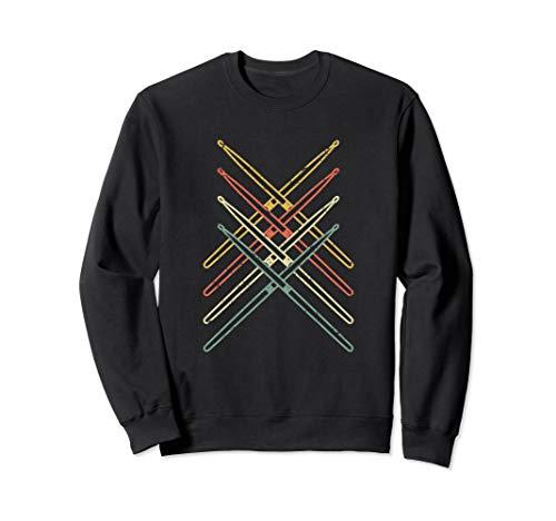 Drum Sweatshirt - Retro Drumsticks Drums Sweatshirt