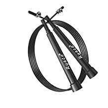 Ryaco [Adjustable / Cuttable 3M] R912 Jump Rope, Speed Rope, speed cable rope for Cardio, Crossfit, Cross Fitness, Boxing, MMA, endurance fitness training, Weighted Fitness Training, Workout Exercise