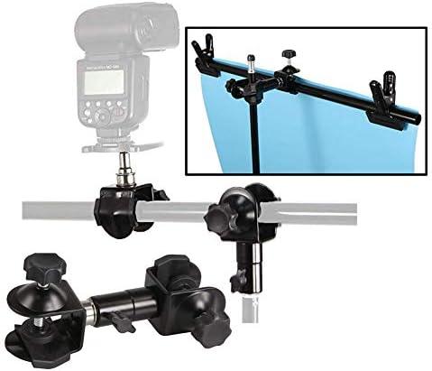 KANEED カメラアクセサリー 撮影機材 CType 2 in 1カメラ傘ホルダークリップクランプブラケットサポート三脚ライト