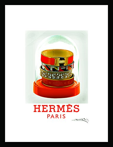 (Fairchild Paris Framed Limited Edition Print, Signed Vintage Hermes ad- Hand Numbered, 18x24 inches)