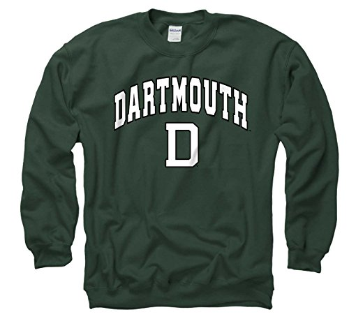 Hockey Crewneck (Campus Colors Dartmouth Big Green Arch & Logo Gameday Crewneck Sweatshirt - Green, X-Large)