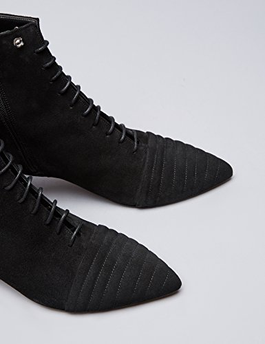 Ankle Black Suede Lace Boots Women's Ups Eyelet in FIND 15A6xwgS
