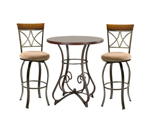 Powell Cherry Chair - Powell 697-404M1 Hamilton Pub Set, 3-Piece