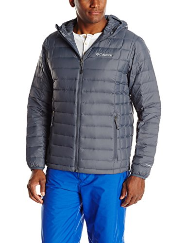 Columbia Men's Voodoo Falls 590 TurboDown Hooded Jacket, Graphite, X-Large