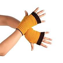 LUQUAN Winter Wrist Arm Hand Warmer Knitted Long Fingerless Gloves Mitten