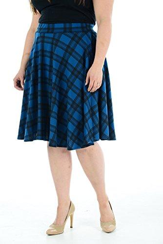 Comfiestyle Femme Bleu Jupe Sarcelle Peplum 848HUqw