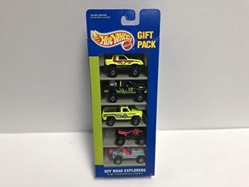 Explorer Atv - OFF ROAD EXPLORERS 1994 Mattel Hot Wheels Gift Pack 3872 with ATV, 4 x 4 Truck, Jeep
