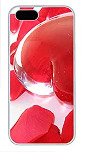 iPhone 5 5S Case Transparent Heart PC Custom iPhone 5 5S Case Cover White