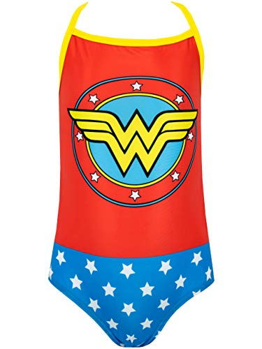 Wonder Woman Girls' Swimsuit Size 5 Red]()