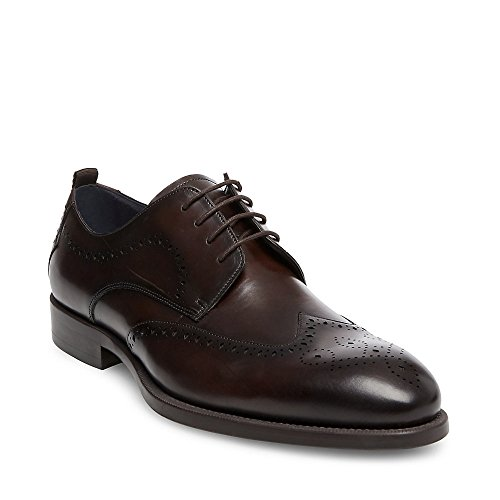 Steve Madden Mens Candyd Oxford Wine Leather