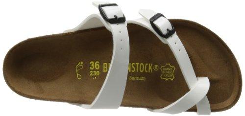 Birkenstock Classic MAYARI BF 71091 Damen Zehentrenner, Weiß (weiss lack), 35 Schmal