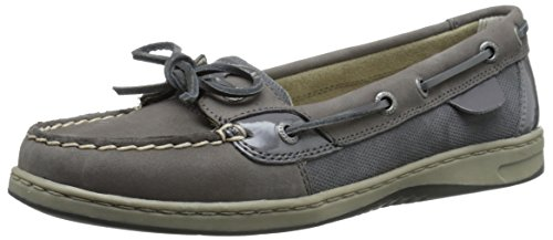 Leather Toe Angelfish Sperry Boat Square Womens Graphite Shoes Ewq55CIxB