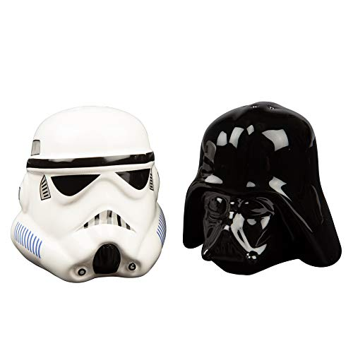 Star Wars Ceramic Salt and Pepper Shakers - Darth Vader & Stormtrooper - Take your Meals to the Darkside! (Darth Vader & Stormtrooper Salt & Pepper Shakers)