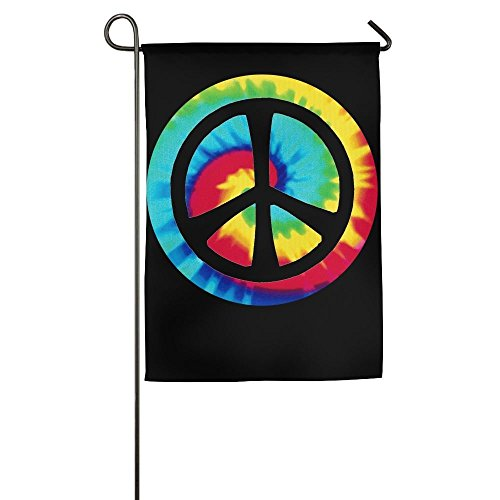 Peace Signs Graphics - Lovefled Tie Dye Peace Sign Graphic Home Backyard Garden Flag For Festival