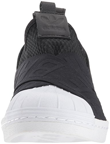 Adidas Originals Women's Superstar Slipon W Sneaker, Core Black/Core Black/White, 8.5 M US