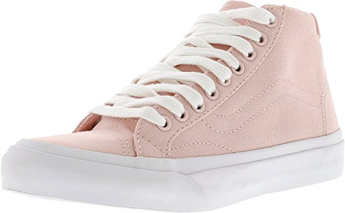 Vans Herren Court Mid Canvas Low Top Schnürschuhe Fashion Sneakers Rosenquarz