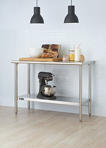 Trinity EcoStorage NSF Stainless Steel Table, 48-Inch - smallkitchenideas.us
