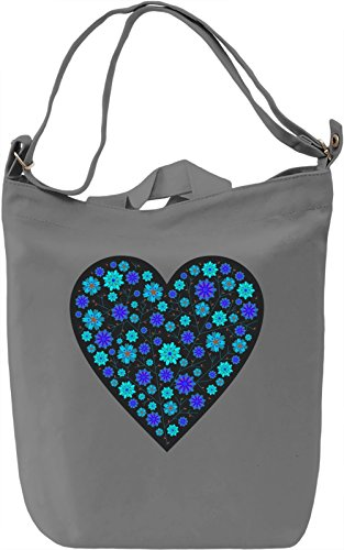 Cute Blue Heart Borsa Giornaliera Canvas Canvas Day Bag| 100% Premium Cotton Canvas| DTG Printing|