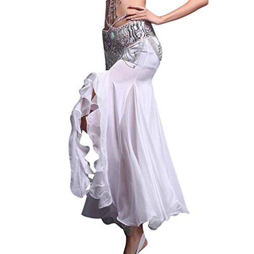 Bianco Dance Orientale Gonna Yijee Costume Belly Donna Del Ventre Danza hdrxBsCtQ