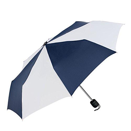 - ShedRain Fashion Mini Manual Compact Umbrella: Navy Blue/White