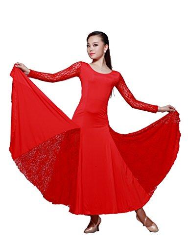 [M9101 StarDance Women's Ballroom Smooth Showcase Practise Dance Costume Dress (XXL (US size 10-12),] (Dancesport Standard Costume)