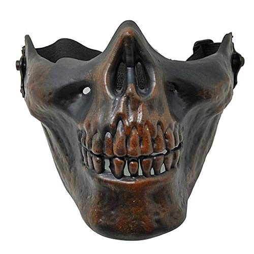 Horror Halloween Costume no Eyes Skull mask Party Activity Cosplay Props (Dry Bone Color) ()