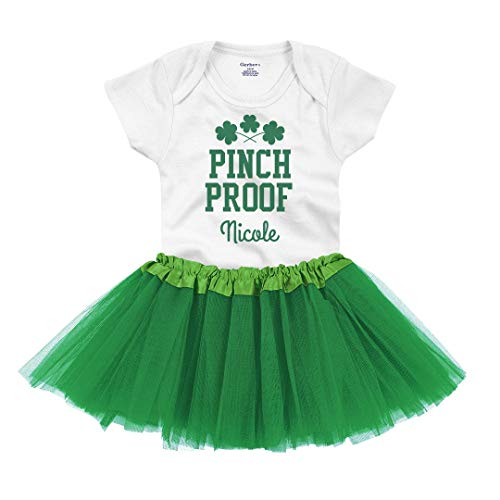 Nicole Pinch Proof St. Patty's: Infant Gerber Onesie with Tutu