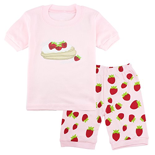 - Girls Pajamas Toddler Pjs Kids Cotton Shorts 2-Piece Set Clothes Size 3