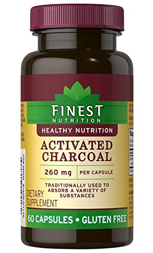 Finest Nutrition Activated Charcoal 260 mg 60 Capsules ()
