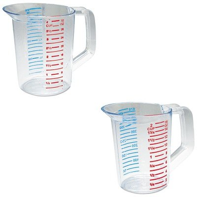 KITRCP3215CLERCP3216CLE - Value Kit - Rubbermaid-Clear Bouncer Measuring Cups 1 Pint (RCP3215CLE) and Rubbermaid-Clear Bouncer Measuring Cups 1 Quart ()