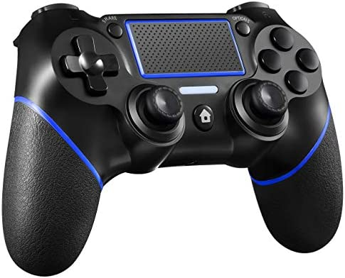 PS4 Controller ORDA Wireless Gamepad for Playstation 4/Pro/Slim/PC and Laptop with Motion Motors and Audio Function, Mini LED Indicator, USB Cable and