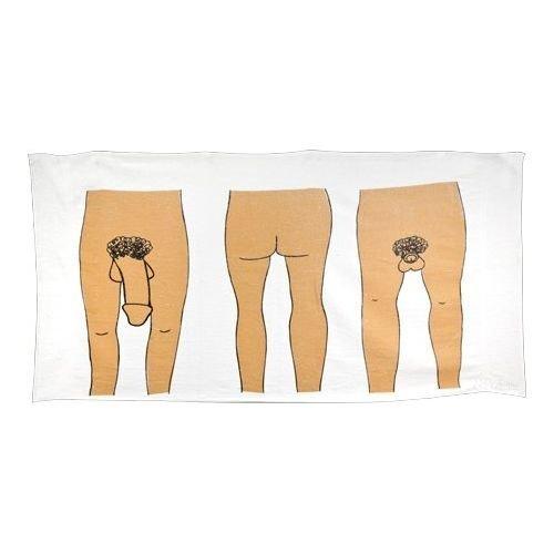 DFTEF 100% Cotton Reactive Printed Funny Sexy Dick Beach Towel Bath Towel (Men,1 Piece, 30 INCH x 70 INCH)