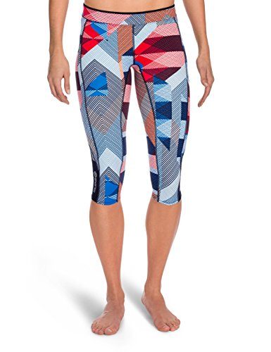 SKINS A200 Capri Compression Tights, This Way Up, Small
