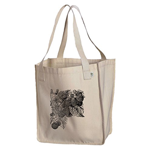 Market Tote Organic Cotton Canvas Blackberry Vintage Look #1 By Style In ()
