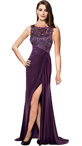 Butmoon Women's Sleeveless Zipper Back Appliques Long Mother of the Bride Dress Women Evening Dress