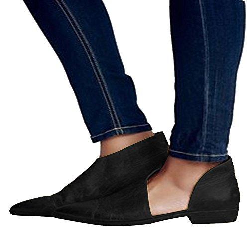 Mode Chaussures Sandales Dame Nues Lolittas Décontractée Noir Plates Printemps Femme Pointues 5wIqxf6a
