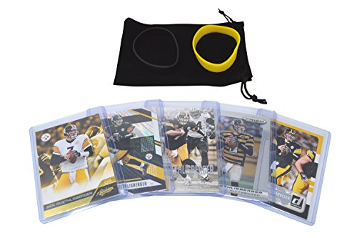 Ben Roethlisberger Football Cards Assorted (5) Bundle - Pittsburgh Steelers Trading Cards