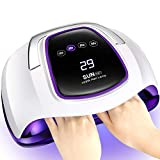 Gel UV LED Nail Lamp,Villsure 108w Nail Dryer UV LED Gel Nail Polish Light for Two Hands,Professional Salon Nail Curing Lamps with 4 Timer Settings,LCD Touch Screen and Smart Automatic Sensor (Color: White)