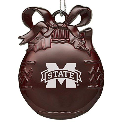 - Mississippi State Univerty - Pewter Christmas Tree Ornament - Burgundy