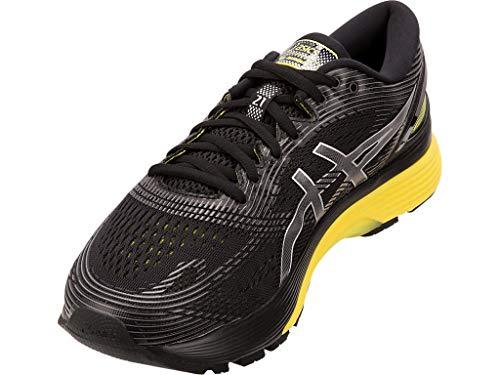 ASICS Men's Gel-Nimbus 21 Running Shoes, 6M, Black/Lemon Spark by ASICS (Image #1)