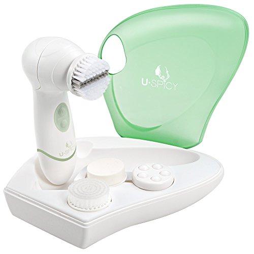 Gesichtsreinigungsbürste USpicy Gesichtsbürste Elektrisch IPX5 Wasserdicht Minimiert Poren Entfernt Mitesser Verbessert Teint Hautreinigung Gesichts-Massagegerät mit Etui